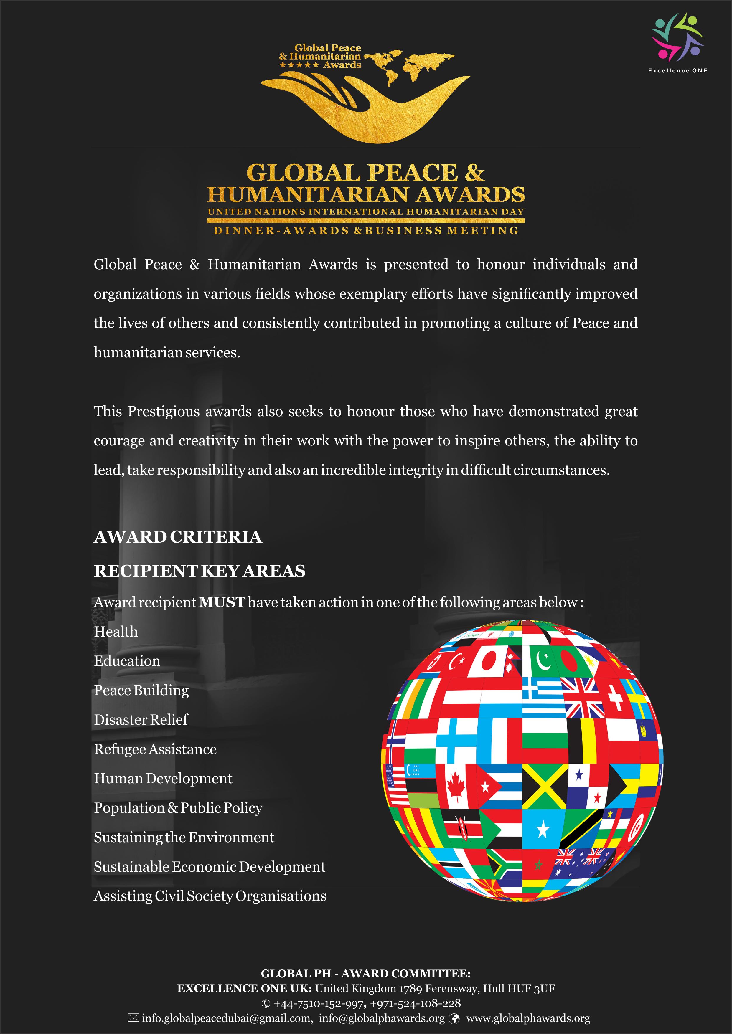 2021 Global Peace and Humanitarian Awards in Dubai